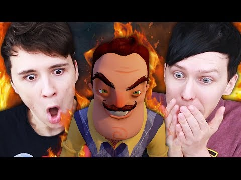 WHAT IS IN HIS BASEMENT?! - Dan and Phil play: Hello Neighbour