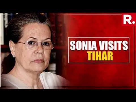 Sonia Gandhi Visits Congress' DK Shivakumar In Tihar Jail