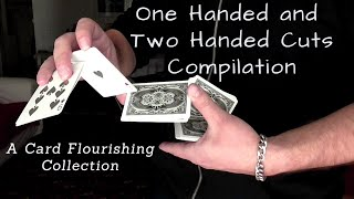 One + Two Handed Cuts Compilation - (Κοψίματα με τράπουλα)