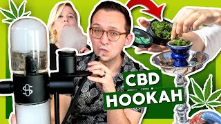 First Time Trying CBD HOOKAH💨 CBD Shisha Review by That High Couple