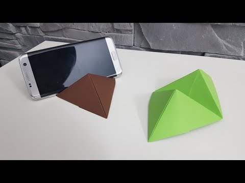 Origami Handy-halter | HANDYHALTER einfach falten, DIY | Faltanleitung