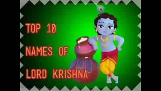 Top 10 Names of Lord Krishna