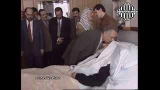 الأردن - زيارة الملك الحسين وعرفات للشيخ أحمد ياسين بعد إطلاق سراحه 1997
