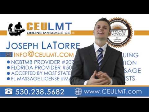CEULMT.COM | ONLINE MASSAGE THERAPY COURSES - YouTube