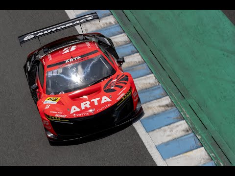 スーパーGT 第4戦もてぎ ARTA 55号車GT300(高木真一・佐藤蓮)のハイライト動画