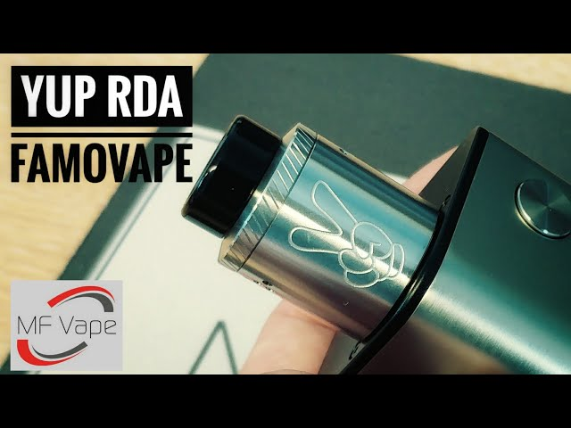 Famovape Yup RDA - Review, build & wick - The Rolling Fog Coils