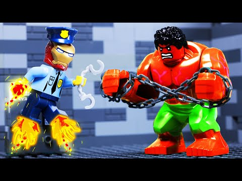 Lego Police School - Avengers Superheroes Fail Toy Animation
