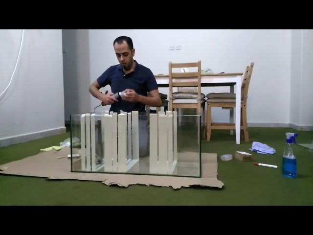 HOW TO: The Best Way to DIY Aquarium Sump Filter (Tape Mask), part 1/2 (120g Reef Tank Setup E2)