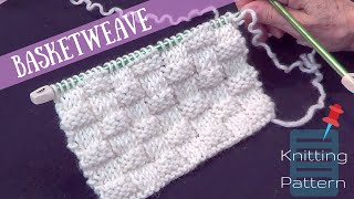 Basket Weave Knitted Stitch