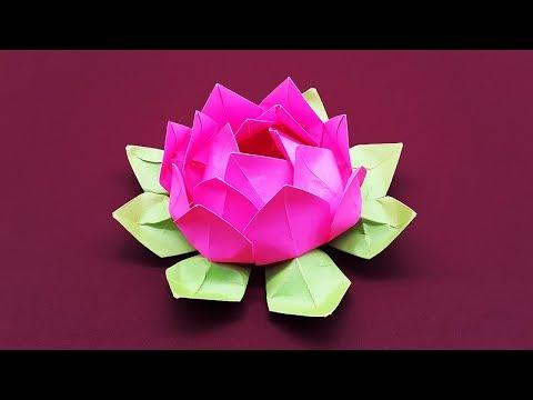 Diy paper flower tutorial step by step beautiful origami lotus diy paper flower tutorial step by step beautiful origami lotus flower mightylinksfo