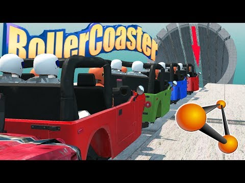 BeamNG Drive Funny Roller Coaster #1 Epic End!