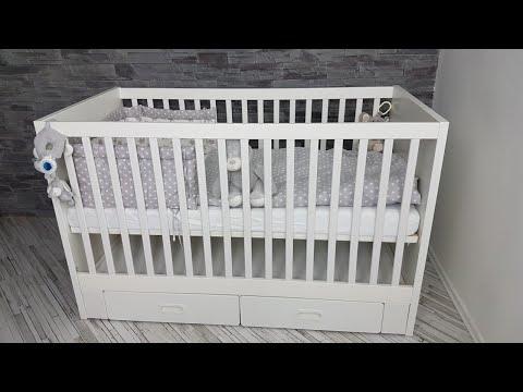 IKEA STUVA Babybett 70x140cm mit 2 Schubfäche in weiß ! Leicht zum nach bauen, DIY !