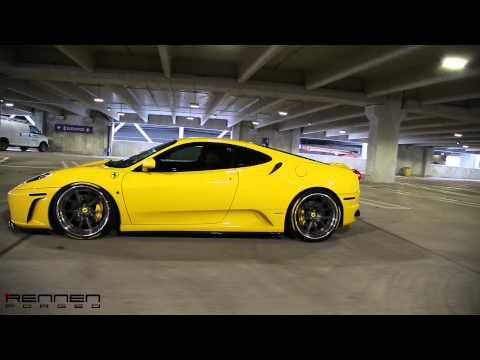 Ferrari F430 on Rennen Forged R55 Steplip X Concave Hook Lip Wheels