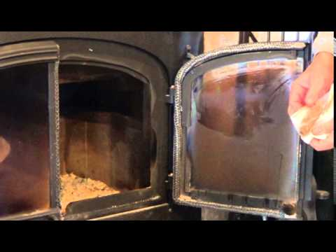How to Clean Fireplace Glass - Removing Burnt On Soot From Glass