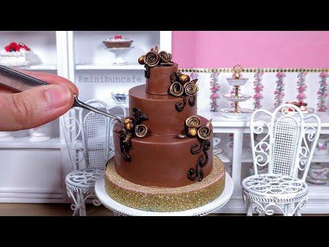 Download Miniature Chocolate Rose Cake - Mini Food ASMR HD Mp4 3GP Video and MP3