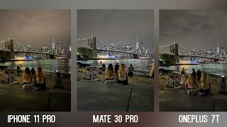 Huawei Mate 30 Pro vs iPhone 11 Pro vs OnePlus 7T Camera NIGHT MODE Comparison Test