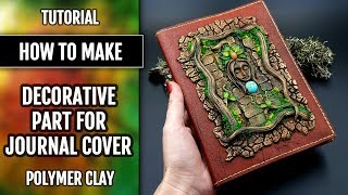 DIY Decorative Part For  Book Cover - A Praying Forest Goddess! Polymer Clay Project!