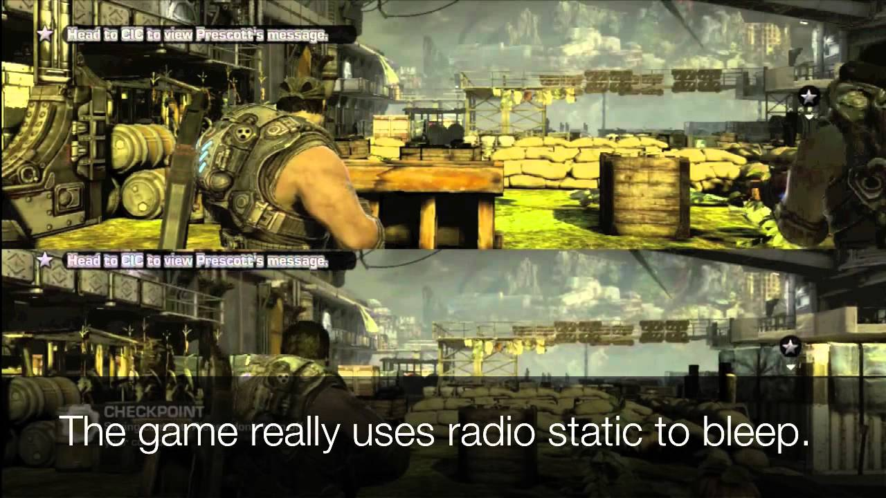 How Gears Of War 3 Deals With Salty Language When You Don't Wanna Hear It