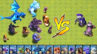 "Every Troop In the Game vs. MAX HEROES!! ""Clash Of Clans"" New update!!"
