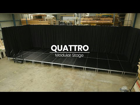 How to assemble QUATTRO Modular Portable Stage by Select Staging Concepts