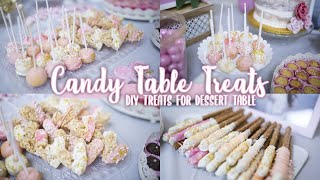 BABYSHOWER CANDY TABLE TREATS | DIY TREATS FOR A DESSERT CANDY BAR