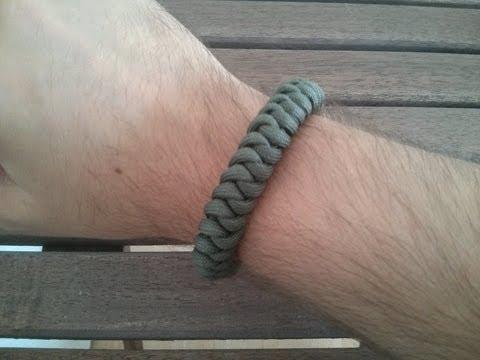 Paracord Armband: Snake Knot mit Diamantknoten