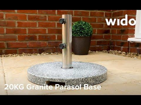 Wido 20KG Granite Parasol Base Product Video (PBASE6)