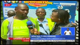 Geoffrey Kungu from Nyandarua wins Ksh 100 million Lotto Jackpot