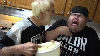 ANGRY GRANDPA'S EGG SALAD FREAKOUT!!