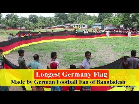 Germany   Longest Germany Flag made by German football fan   Längste Deutschland-Flagge