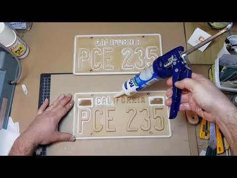Stranger Things Prop Build Billys Car Number Plates PCE 235