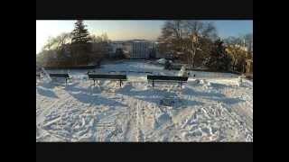 preview picture of video 'Ski à Montmartre, Paris le 13/03/2013'