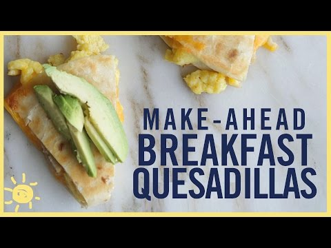 EAT | Breakfast Quesadilla (Make Ahead and Freeze Recipe)