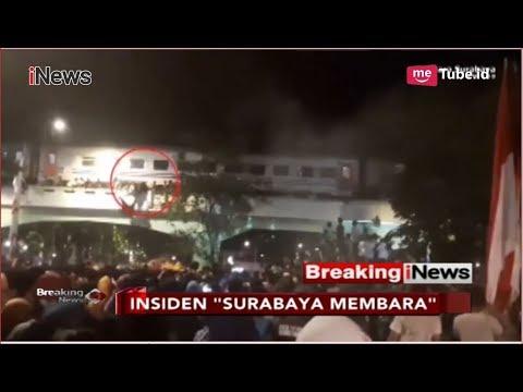 """NGERI! Detik-detik Penonton """"Surabaya Membara"""" Jatuh dari Viaduk - Breaking iNews 09/11"""