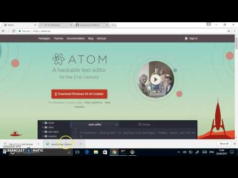 Howto: install and run Git Bash and Atom on Windows | Chris Swan's