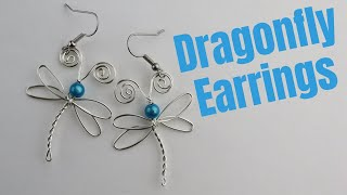 DIY Wire Dragonfly Earrings //  Day 2 Of The 10-Day Wire Earring Making Challenge
