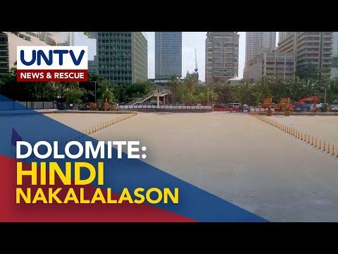 [UNTV]  Dolomite sa Manila Bay, hindi nakalalason – Environmental Mng't Bureau, Mines and Geosciences Bureau