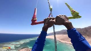 Kite Surfer Flies Away 150m High