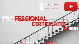 I will do professional certificate,award and diploma certificates