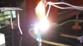 Magnesium burns in air