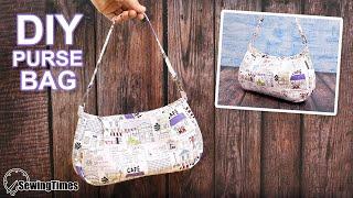 DIY SHOULDER PURSE BAG   Cute Handbag Sewing Tutorial [sewingtimes]