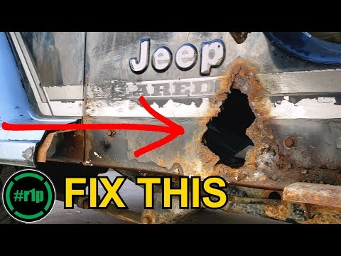 Rover 1 Project - Fixing VERY large rust holes on a Jeep YJ
