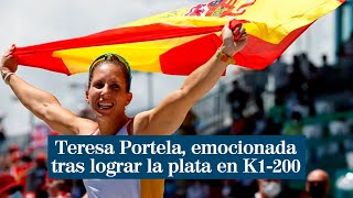 """Teresa Portela, emocionada tras lograr la plata en K1-200: """"Todavía no me lo creo"""""""