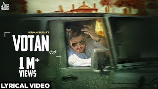 Votan| (Lyrical Video)●Gurnam Bhullar●New Punjabi Songs 2016●Latest Punjabi Songs 2016●Jass Records