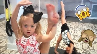 CRAZY YOGA CHALLENGE TAUGHT BY 4 YEAR OLD BESTIES! (HILARIOUS)