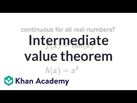Intermediate Value Theorem Video Khan Academy