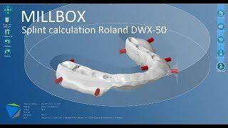 Millbox: calculation of splint / расчет стратегии фрезерования окклюзионной шины