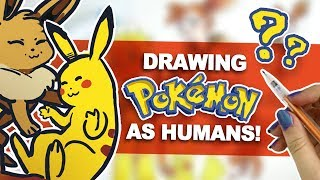 POKÉMON as PEOPLE?! | Character Design Art Challenge