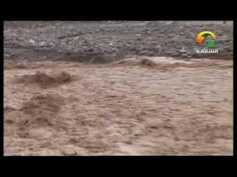 أمطار من تلفزيون الشارقة 28/2/2010