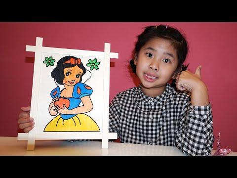 Bé Bún Tô Màu Công Chúa Bạch Tuyết | Mewarnai Putri Salju